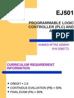 EJ501 T0 Course Introduction
