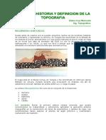 TOPOGRAFIA.Historia y Definición