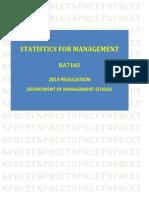 BA:Statistics for Management