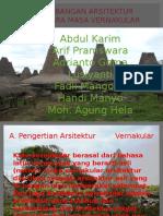 Perkembangan Arsitektur Nusantara Masa Vernakular