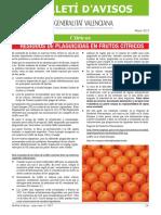 Boletín de Avisos Nº 8, Mayo 2017, Residuos Plaguicidas Cítricos