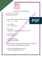 Model Teza Clasa a v-A Semestrul II