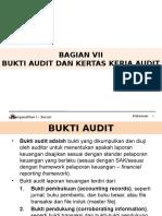 BAGIAN VII - BUKTI AUDIT DAN KERTAS KERJA AUDIT.pptx