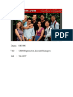 ActualTests - Exam 646-096 - CRM Express for Account Managers (15 Pages) - English