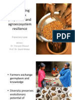 Seed sharing network properties and agroecosystem resilience - Presentation