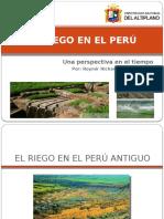 EL RIEGO EN EL PERÚ