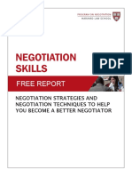 Negotiation Skills Free Report