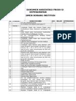 Check List Dokumen Akreditasi Prodi s1 Keperawatan1