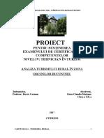 Analiza Turismului Rural În Zona Obcinilor Bucovinei Rusu Claudia Mariana