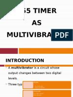 555 Timer as Multivibrator