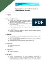 Procédure de dépistage précoce des troubles émergents du comportement au préscolaire (English version)