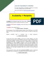 Lectura 3 - Disponibilidad vs Confiabilidad