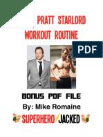 Chris Pratt Work Out