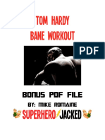Tom Hardy Workout