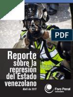 Informe de represión durante protestas en abril 2017