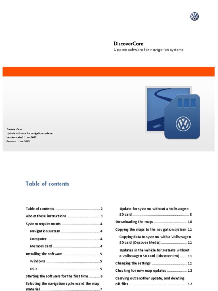 volk wagon: Volkswagen Discover Media Software Update