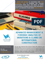 Forensic Analysis Claims on International Construction
