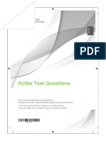 Kolbe Test Questions