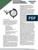 Manual Instalacao Operacao Manutencao Linha Manometros Processo Industriais Teste Analogicos