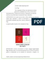 Guía de Mini Computador de Papy Expresión de Cantidades