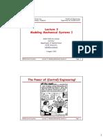 Lecture3-ModellingMechanicalSystemsI