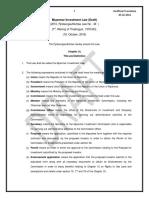 Myanmar Investment Law (Draft) 2106