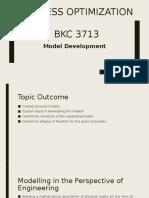 Process Optimization (Model Development)
