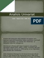 Analisis Univariat statistik
