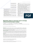 Metastatic Pattern of colorectal carcinoma