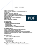 Documents.tips Proiect de Lectie Bazele Nursingului