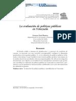 Evaluacion de Politicas Públicas en Venezuela