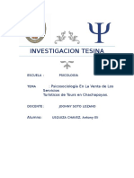 la psicosociologia del turismo en AMAZONAS.