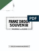 Drdla - Souvenir Cello Piano