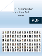 image thumbnails for preliminary task