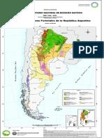 Mapa de Regiones Forestales de Argentina (SAyDS)