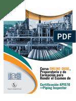 Curso ONLINE-DUAL preparatorio y de formación para rendir el examen para la Certificación API 570 - Piping Inspector.pdf
