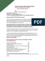 myron fogle internship experience self analysis form