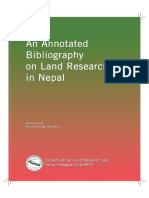 Annotated Bibliography on Land Research in Nepal (2011)