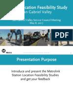 Metrolink Station relocation study presentation