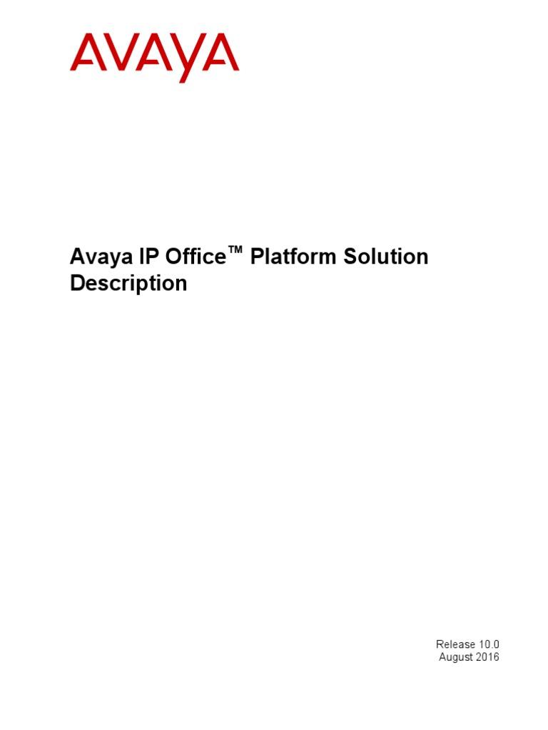 Avaya Ip Office Platform Solution Description En Us H264 Mpeg 4 Speaker Wiring Diagram Avc Telephony