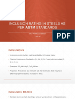 INCLUSION RATING IN STEELS AS PER ASTM STANDARDS.pptx