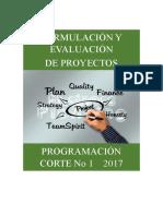 Programación Proyectos Corte No 1