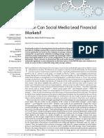 When Can Social Media Lead Financial Markets
