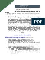 Código Laboral de La Republica Dominicana.