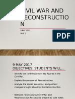 Civil War and Reconstruction 2
