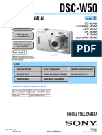 Service Manual Camara Sony Dsc-w50