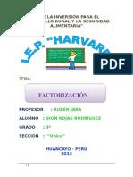 factorizacion monografia