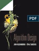 Algorithm Design by Jon Kleinberg, Eva Tardos