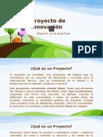 Proyecto de Innovación, 5° bimestre de Tecnologías 3 de secundaria