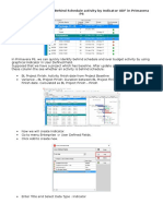 How to Quickly Identify Behind Schedule and Over Budget Activity by Indicator UDF in Primavera P6